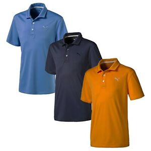 Puma-Golf-Boy-039-s-Junior-Essential-Pounce-Polo-Shirt-NEW