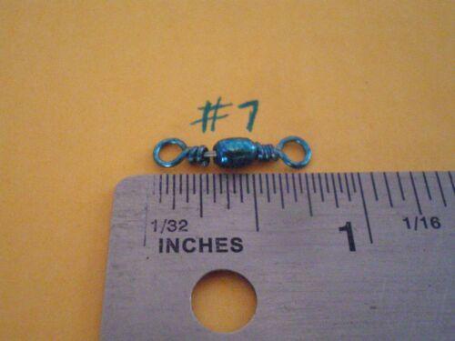 20 mm FITS DO-IT MOLD TURQUOISE BARREL SWIVEL SIZE #7 50 LBS TEST 100 PCS