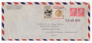 1958-USA-Air-Mail-Cover-BERKELEY-to-BERLIN-CHARLOTTENBURG-GERMANY-Gutter