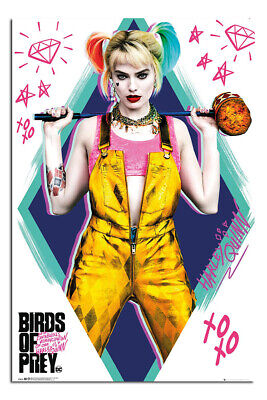 Birds Of Prey Harley Quinn Poster Official Licensed 24x36 New Ebay