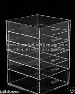 Acrylic-Lucite-Clear-Cube-Makeup-Organizer-The-Kardashians-Display-6-pull-out-dr