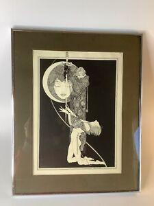 "4 Vintage John Austen 11"" x 16"" Illustration framed Prints"