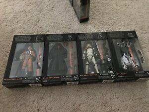 Star Wars The Black Series 6 pouces Phase 1 Orange Luke Skywalker Darth Maul Boba