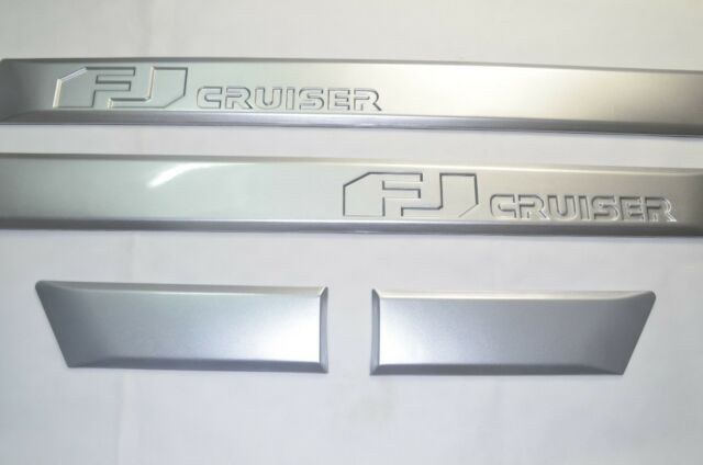 4x Door Body Molding Protector Trim Plate Covers For Toyota FJ Cruiser 2006-2016