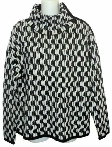 100% Cashmere NORDSTROM COLLECTION Black White Do… - image 2