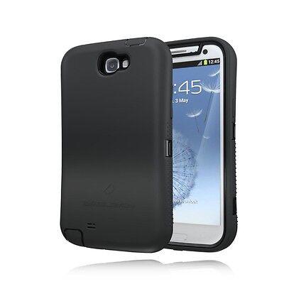 ZeroLemon Black Zero Shock Series Hybrid Case+ Holster For Samsung Note 2