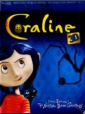 BRAND NEW 3D+2D-BLU-RAY & 2D-DVD  COMBO  //  Coraline 3D  // ENGLISH & FRENCH