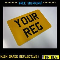 """MOTORBIKE MOTORCYCLE NUMBER PLATE SIZE 7"""" x 6"""" CUSTOM SHOW PLATE"""