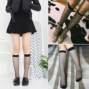 Women-Fishnet-Knee-High-Socks-Mesh-Lace-Fish-Net-Tight-Stocking-Ladies-Burlesque