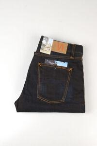 32784 Nudie Jeans Big Bengt Night Thunder Bleu Foncé Hommes Jean Taille 32/32