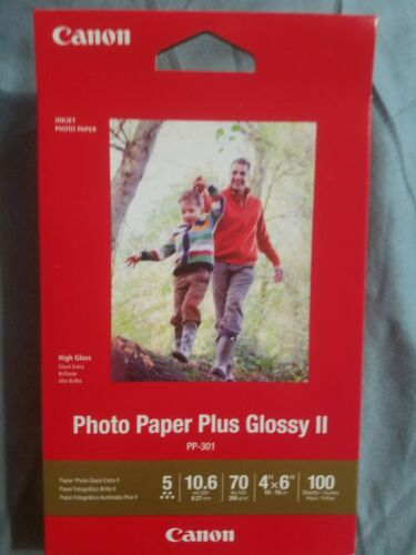 1 Pack of 100 sheets Brand New. Canon Photo Paper Plus Glossy II Size 4X6