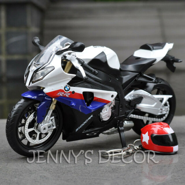 1 12 Diecast Motorcycle Model Toys Bmw S1000rr Sport Bike Replica Sound Light