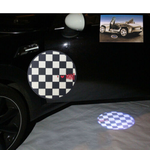 Türbeleuchtung Welcome light checkerd flag para mini r55 r56 r57 r58 r59 r60 r61