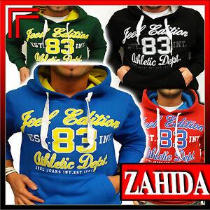 Pullover-Pulli-Kaputzen-Kapuzen-Jacke-Sweatshirt-Herren-Hoodie-Sweat-T-Shirt-NEU