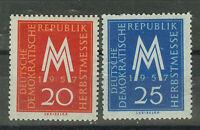 DDR Briefmarken 1957 Leipziger Herbstmesse Mi 596 und 597 **