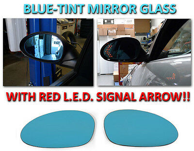 USA 08 09-11 BMW E82 COUPE E88 CONVERTIBLE RED LED TURN SIGNAL MIRROR GLASS 2D