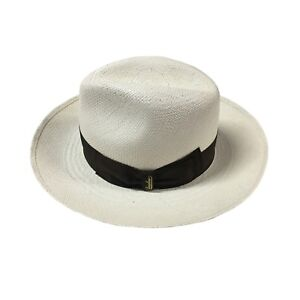 BORSALINO chapeau homme 141088 Panama Quito 100% Paille MADE IN ... fb59a6808512