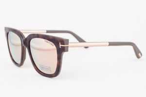 302215e29ccf Image is loading Tom-Ford-Tracy-Havana-Brown-Mirrored-Sunglasses-TF436-