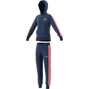 adidas Performance Kinder Trainingsanzug Hooded Tracksuit tech indigo pink