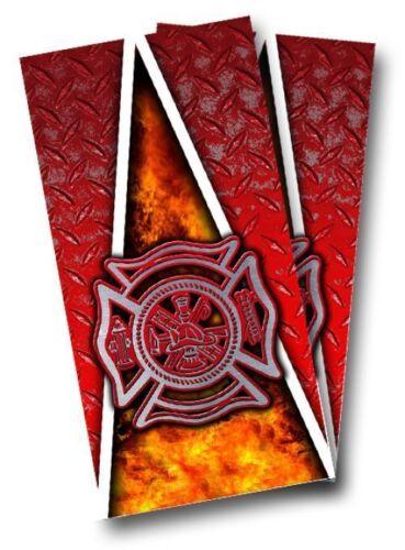 FIREFIGHTER FIREMAN CORNHOLE WRAP WRAPS SET High Quality Vinyl Board  DECAL