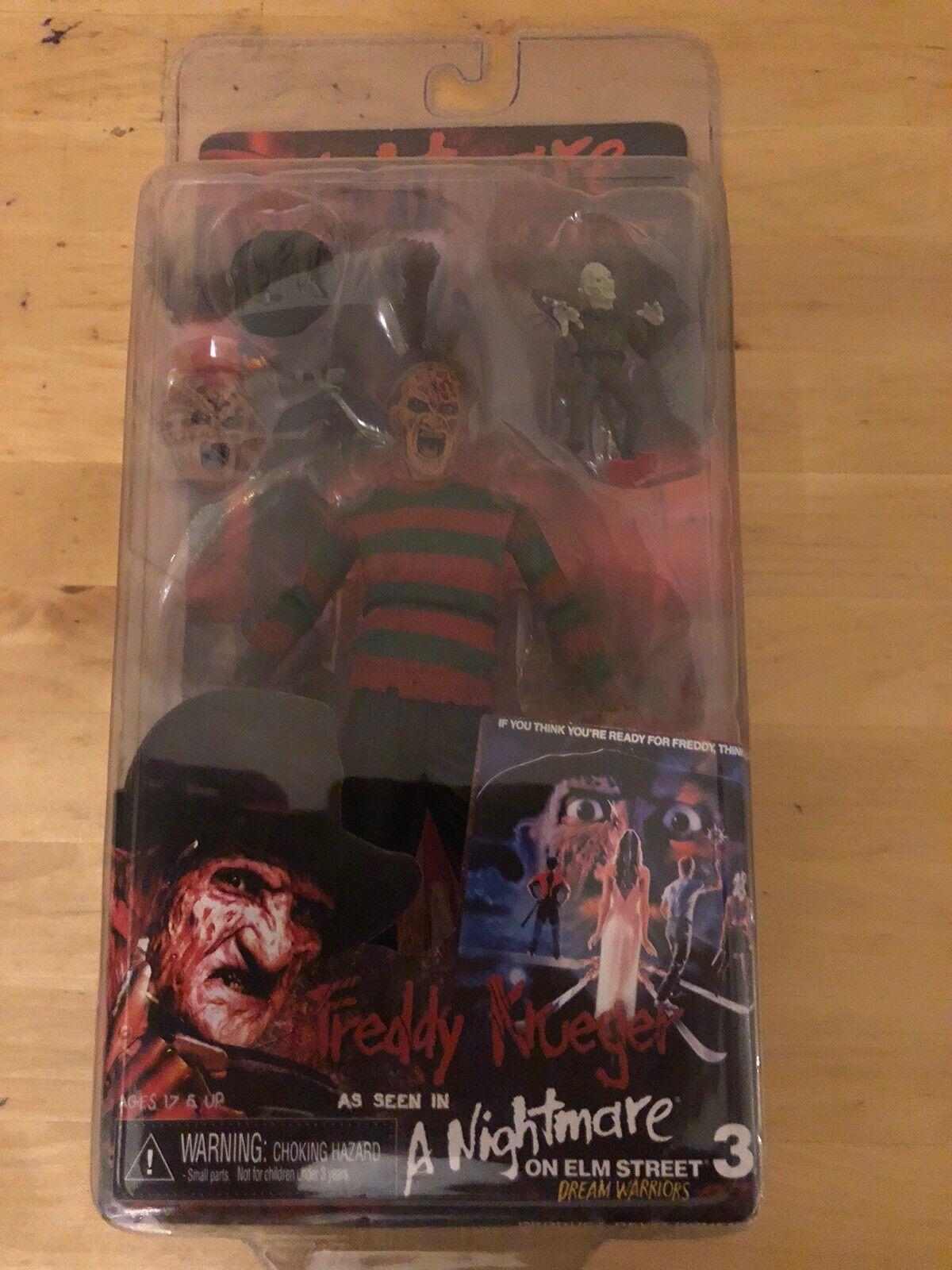 A Nightmare On Elm Street Freddy Kruger Dream Warriors + Mini Fr Neca AF ANOES 5