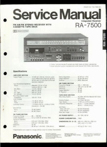 Details about Orig Factory Technics/Panasonic RA-7500 FM/AM Stereo Receiver  Service Manual