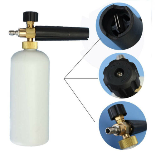 Snow Foam Lance Cannon Soap Bottle Sprayer For Pressure Washer Gun Car WashBrush