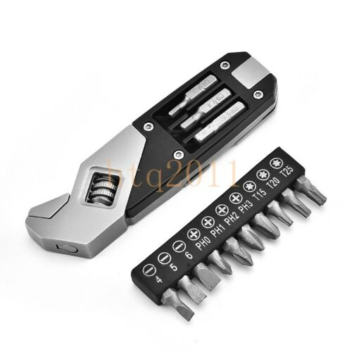 EDC Adjustable Wrench Foldable Multi Tool Wrench With Screwdriver Camping Tools