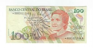 100-Cruzeiros-Bresil-Replacement-UNC-1989-c206a-p-220a-Brazil-Star-banknote