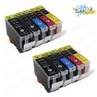 10 Pack Ink For Canon PGI-5 Cli-8 W/ Chip Pixma iP4200 iP4300 iP4500 MP600 MP800