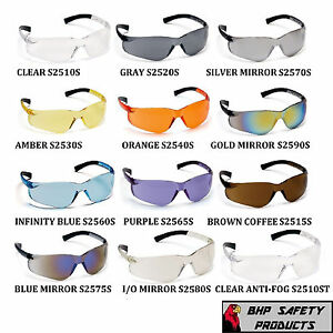 PYRAMEX ZTEK SAFETY GLASSES ANSI Z87.1+ COMPLIANT CHOOSE YOUR COLOR (1 PAIR)