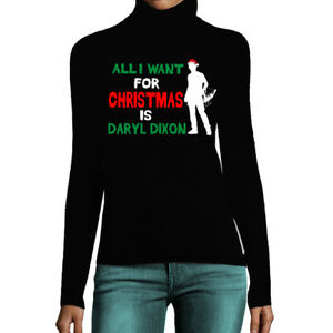 Walking Dead Christmas Sweater.Details About Ladies Daryl For Christmas Turtle Polo Neck Women Walking Dead Inspired Jumper