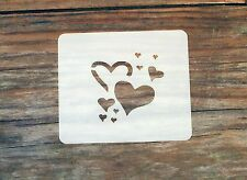 Random Hearts Face Painting Stencil 7cm x 6cm 190micron Washable Reusable Mylar