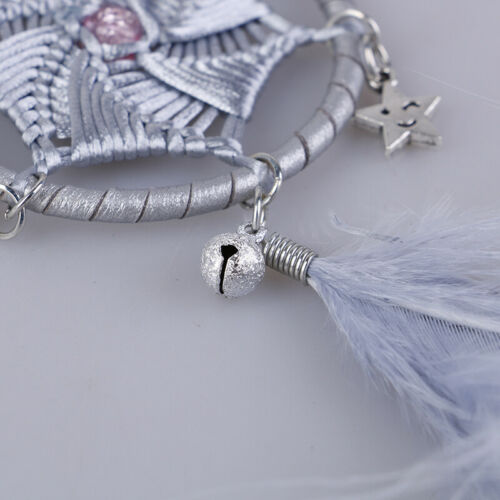 White//Gray Dream Catcher for Car Rear View Mirror Decoration Hanging HandmadPZS