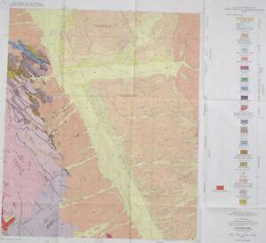 Geologic Map Of Arizona.Usgs Lookout Mountain Pinal County Arizona Geologic Map 1968 Nice
