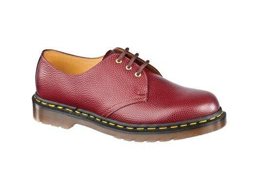 50th Anniversaire Dr Martens Doc mie 1461 Rouge Cerise Chaussures en Cuir UK3 US 5