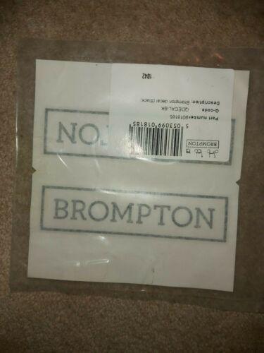 Brompton decals in black part no 9018185