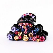 QUALITY Hair Claw using Swarovski Crystal Hairpin Clip Flower Multi Color 2