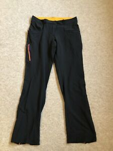 Quechua Ligero Estiramiento Caminar Pantalones Para Mujer Talla 10 12 Negro Ebay