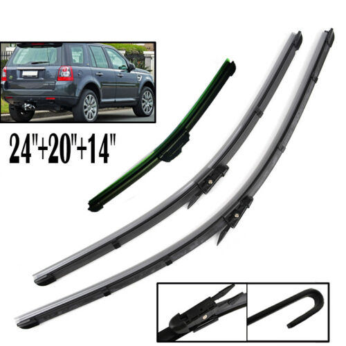 Fit For Land Rover Freelander 2 2006-2014 Front Rear Windshield Wiper Blades