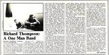 SL25/6/76p43 Review & Picture : Richard Thompson - (Guitar Vocal)