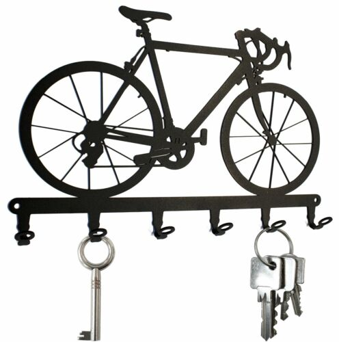 Schlüsselboard Fahrrad Hakenleiste 6 Haken Metall Schlüsselbrett Rennrad
