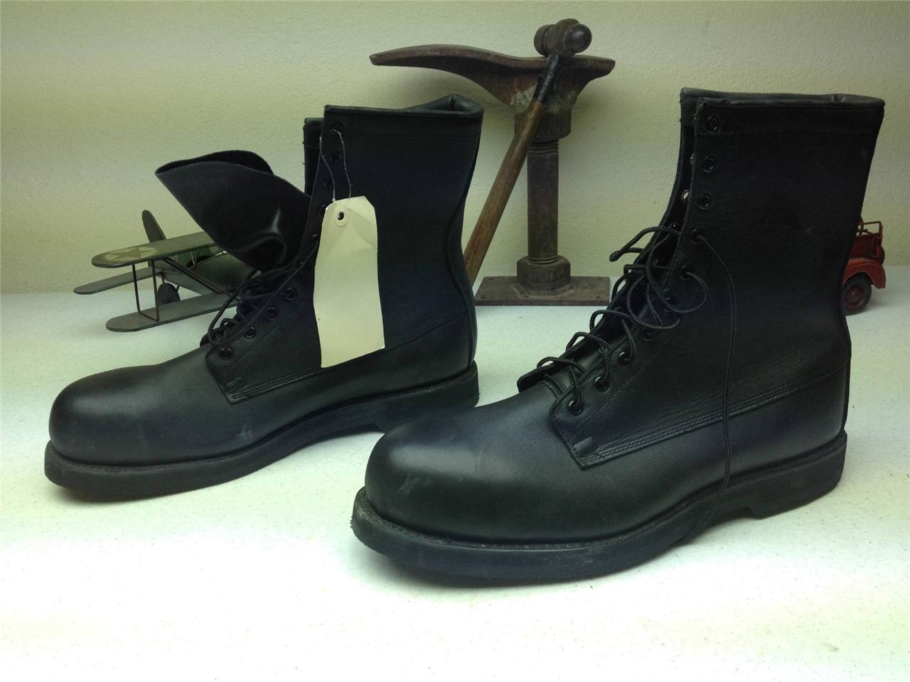 Negro Addison Puntera De Acero Militar De Combate Del Ejército Motocicleta lazada botas R