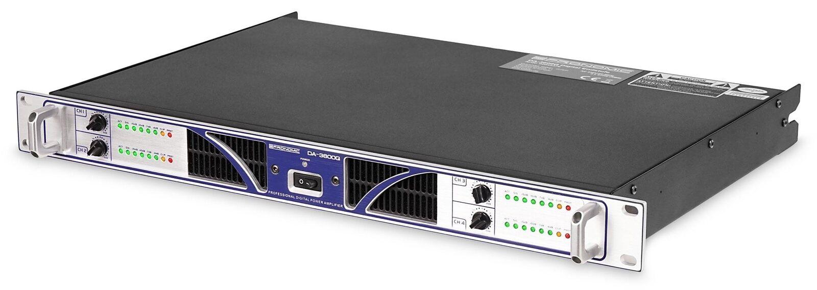 Profi PA DJ Endstufe Verstärker Amplifier 4x 910 Watt RMS Studio Live Monitoring