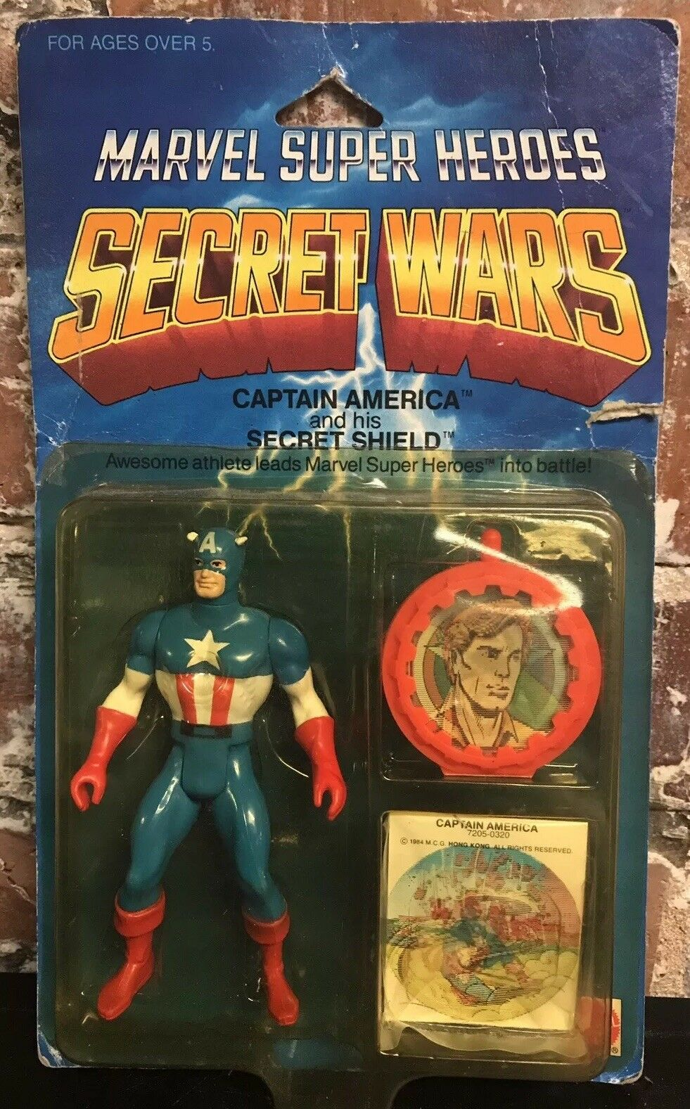 Vintage Marvel Super Heroes Secret Wars Captain America 4  Figure Mattel 1984