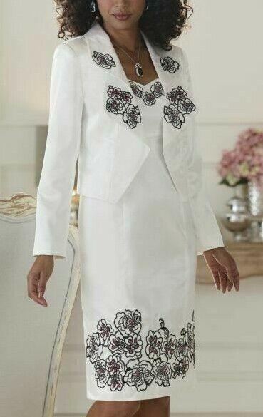 size 10 Embroidered Beaded Jacket Dress from Midnight velvet catalog new