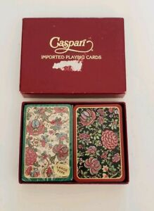 Caspari PC-21 Double Deck Playing Cards Honfleur 18th Cent French Fabric Design