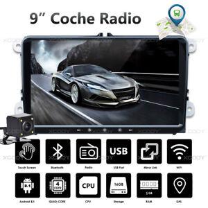9-034-2-DIN-Android-8-1-Autoradio-Bluetooth-GPS-Navi-Camara-Para-VW-GOLF-5-6-Passat