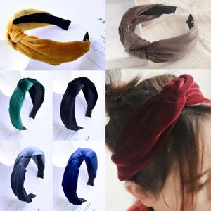 Womens Bowknot Hairband Twist Cross Tie Headwrap Hair Band Hoop Hair Accessories