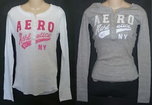 Womens-AEROPOSTALE-Long-Sleeve-Aero-Athletics-Henley-NWT-3164